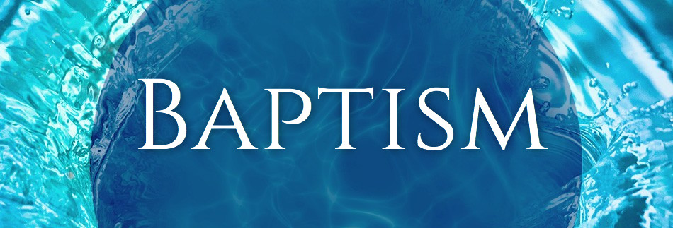 Baptism Sunday Christian Website Banner
